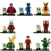 X-Men ANT-MAN Loki Heroes Minifigures building blocks brick compatible 8 pcs /Set 4.5 cm.