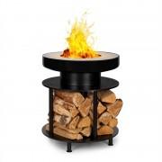 Blumfeldt Wood Stock, камина 2 в 1, барбекю скара, Ø56 см, неръждаема стомана, черна (GQ18-Wood-Stock)