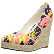 Michael Antonio Women s Anabel-Prt Wedge Pump Pink/Multi 7 B(M) US