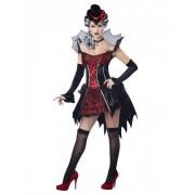 Vegaoo Sexy Vampir-Kostüm für Damen rot-schwarz