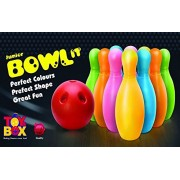 toyztrend sporty bowl it game junior bowling set for kids 10 bowling pins and 2 balls