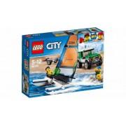 Lego Klocki konstrukcyjne City Terenówka 4x4 z katamaranem 60149