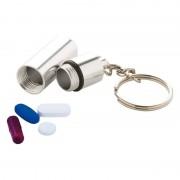 Merkloos Sleutelhanger met pillendoosje voor medicatie