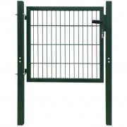 vidaXL Fence Gate Steel Green 106x150 cm