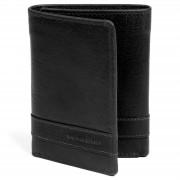 Lucleon Portefeuille Montreal en cuir noir trois volets RFID