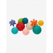 INFANTINO Conjunto de 10 bolas sensoriais, da INFANTINO azul medio liso com motivo