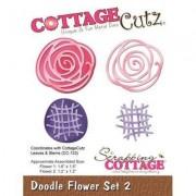 CreativeHobby Wykrojnik Doodle Flowers Set 2 - 02