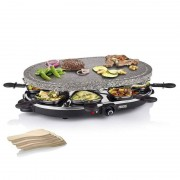 Princess 162720 Oval Stone Grill & Raclette Party Raclette de Pedra 1200W