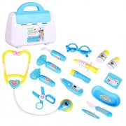 Bfeplfashion Kids Pretend Doctor's Medical Playing Set Case Education Kit Role Play Toy Gift - Blue