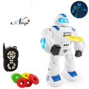 Negi Remote Control Intelligent Robot Iron Soldier Robot Smart Interactive Walking, Music, Dancing Shoot Disc with Robotic (Color May Vary) (Smart Robot)