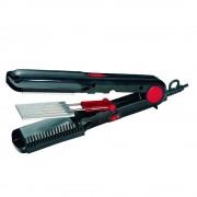 Преса за коса 2в1 SAPIR SP 1101 AV, 200◦C, Вафлички, Завъртане на кабел-360°, Черен/червен