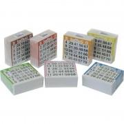 Geen Bingo kaarten 1-75 gekleurd