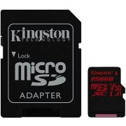 Kingston Canvas React MicroSDXC 256GB A1 UHS-I V30 + SD adapter