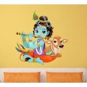 SS creators Small Wall sticker decals Calf krishna Sticker