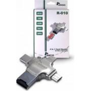 Cititor de carduri Inter-Tech Argus R-010 4in1 USB microUSB USB Type-C Lightning