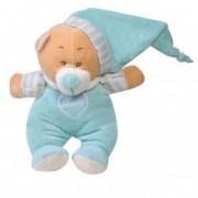 Jucarie bebe ursulet de plus bleu cu pijamale