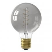 Calex LED E27 Flexible Filament Globe G80 Titanium dimbaar (4W, 2100K, 12 cm lang)