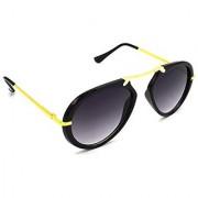 HRINKAR Men's Grey Mirrored Round Sunglasses