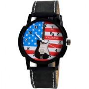 Kajaru KJR-110 stylish sporty black analog watch for boyMen