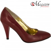 Pantofi Piele Naturala - Culoare Rosu - Jupiter 794R