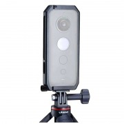 Carcasa Cadru protectie aluminiu Ulanzi cu capac lentila camera Insta360 ONE X