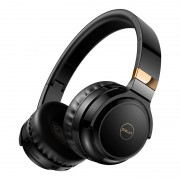 PICUN B26 Over-ear Bluetooth 5.0 Headphone Headset Earphone Colorful LED Light Touch Control - Black / Gold
