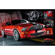 Geen Poster rode Ford Mustang 61 x 91,5 cm - Action products
