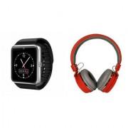 Mirza GT08 Smart Watch and SH 12 Bluetooth Headphone for SAMSUNG GALAXY STAR 2(GT08 Smart Watch with 4G sim card camera memory card |SH 12 Bluetooth Headphone )
