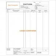 Facturi Personalizate A4 in 2 Exemplare, 50 Seturi/Carnet, Tipar 1+0, Formulare Tipizate Autocopiative, Facturier Personalizat, Tipizate Personalizate, Formulare Autocopiative Personalizate