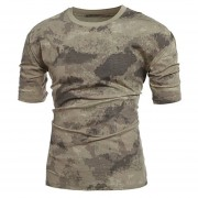 Militares Camuflaje T-shirt De Los Hombres La Camiseta -color De Camuflaje