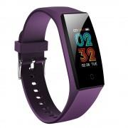 CAVO V18 IPS Color Screen Waterproof Heart Rate Blood Pressure Monitoring Multi-function Smart Bracelet - Purple