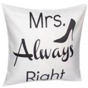 Fata de perna decorativa model Mrs Always Right- stiletto material textil multicolor Maxx 43 x 43 cm