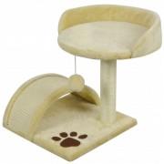 vidaXL Grebalica/Penjalica za mačke 40 cm Žuta i Smeđa boja