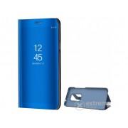 Husa piele artificiala standing Gigapack Mirror View Cover pentru Huawei Mate 20, albastru