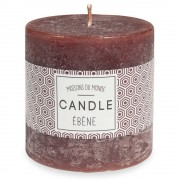 Maisons du Monde Brown cylindrical candle 7 x 7 cm