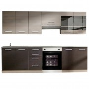 Klanton konyhabútor, sötét tölgyfa /világosszürke tölgyfa
