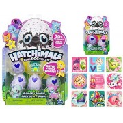 Hatchimals Colleggtibles Season 1 Gift Bundle includes 4-Pack + Bonus Collectible, 2-Pack with Nest and (Bonus Shopkins Sticker Set!) by Action Media & Gifts
