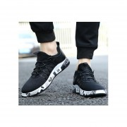 Hombre Zapatos Casual De Correr Fashion-cool-Negro Y Blanco
