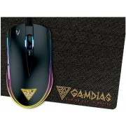 Mouse Gaming Gamdias ZEUS E1 + Mouse Pad Small (Negru)