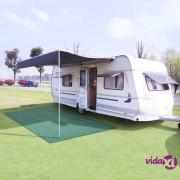 vidaXL Tepih za šator 300 x 400 cm zeleni