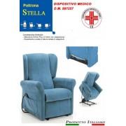 Il Benessere Poltrona Relax Stella Pronta Consegna completa di Alzapersona e Kit Roller 2 Motori Tessuto Lavabile Colore Blu Sfoderabile Consegna 48 Ore PREZZO IVA AGEVOLATA 4%