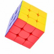 High Stability Stickerless - 3X3X3 Speed Cube with Adjustable Tightness (Multicolour)
