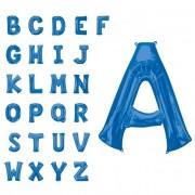 Liragram Globo de letra gigante azul de 86 cm - Letra I