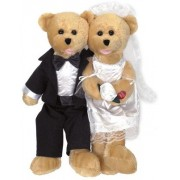 Chantilly Lane Singing Bride and Groom Duet Bears
