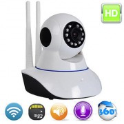 Hy Touch Branded Wireless HD IP Wifi CCTV Indoor Security Camera (Support upto 64 GB SD card -White Color)