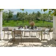 Nardi Garden Set tavolo Maestrale 220 con 6 poltrona Musa