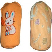 AH Baby Milk Feeding Bottle Cover For Baby 200 ML Soft Fabric Combo Of 2 Pcs Cover - Multicolor - ( 22x10 cm )