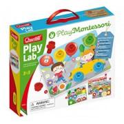 Joc educativ pentru copii Quercetti Play Montessori 0622 Play Lab Planse cu desene, suruburi si piulite speciale din plastic