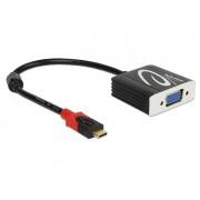 DeLock USB Type-C male > VGA female (DP Alt Mode) Adapter Black 62994