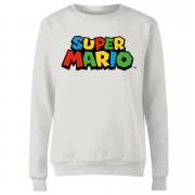 Nintendo Sudadera Nintendo Super Mario Logo - Mujer - Blanco - XXL - Blanco